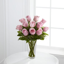 The Long Stem Pink Rose Bouquet by FTD - VASE INCLUDED