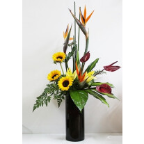 Stylish Arrangement In Tall Vase