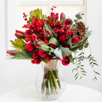Shining Red Christmas Bouquet