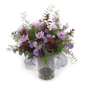 Purple Daisies and Lisianthus